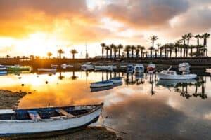 Amanecer en el charco de san Ginés - Arrecife - Turismo Lanzarote