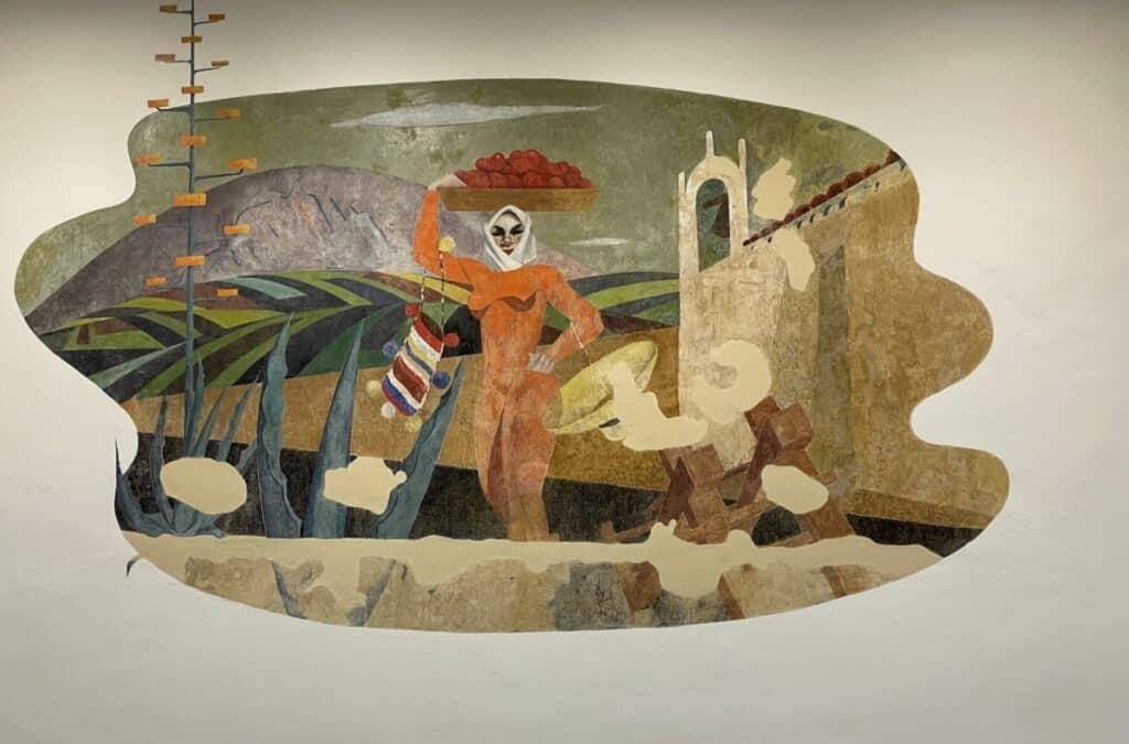 Mural César Manrique Casa Agustin de la Hoz